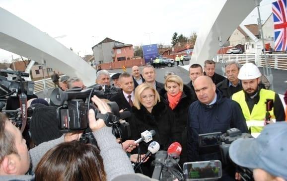 Podul Centenarului, unic în România, inaugurat la Oradea. Investiție de 3,3 mil. euro, cu finanțare europeană