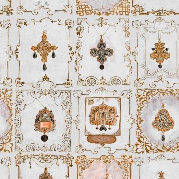 - ANNAs JEWELRY neutral 585x585 - MINDTHEGAP. În lumea tapetului, abajururilor și a textilelor care cuvântă