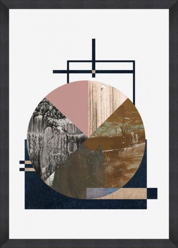 - Alchemy 70x100cm black frame with copper foil 585x815 - MINDTHEGAP. În lumea tapetului, abajururilor și a textilelor care cuvântă