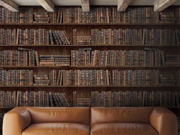 - Book shelf WP20112 585x439 - MINDTHEGAP. În lumea tapetului, abajururilor și a textilelor care cuvântă