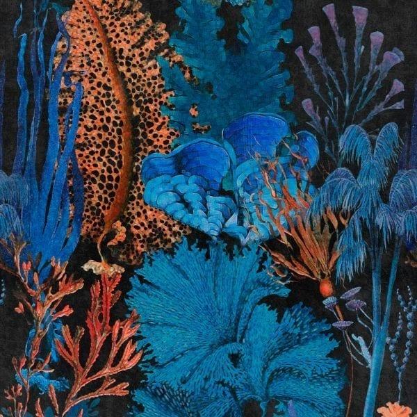 - CORAL REEF Ultramarine - MINDTHEGAP. În lumea tapetului, abajururilor și a textilelor care cuvântă