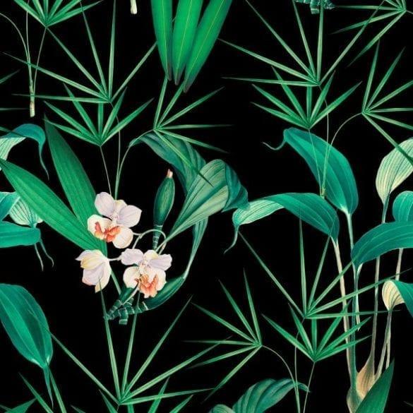 - PALM SPRINGS Anthracite 585x585 - MINDTHEGAP. În lumea tapetului, abajururilor și a textilelor care cuvântă