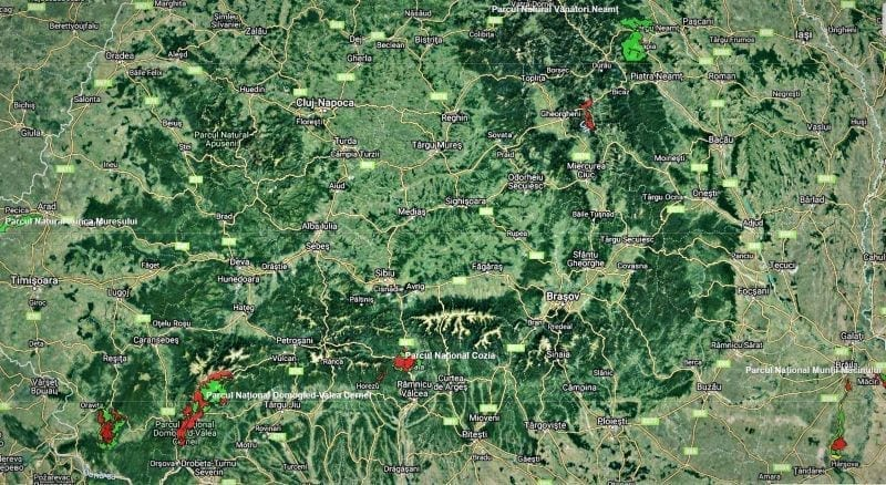 - ROMSILVA HARTA ZONARE PARCURI - Romsilva a publicat harta parcurilor naționale și naturale