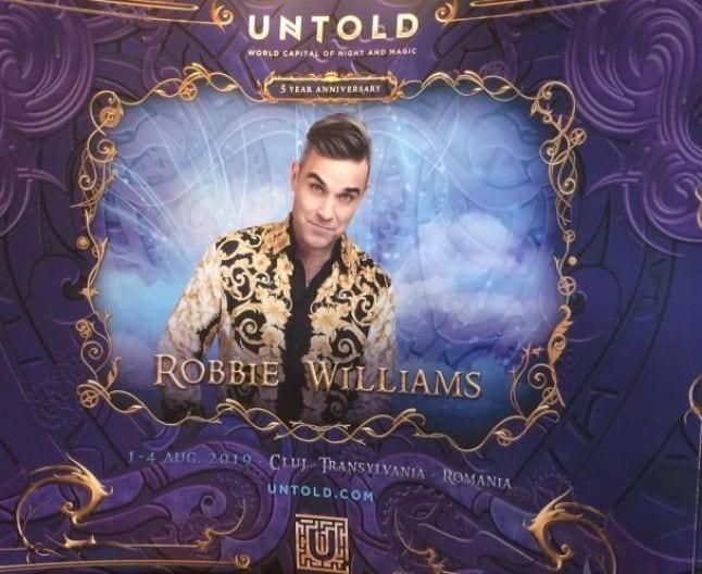 - untold2 - Robbie Williams concert de excepţie la Cluj