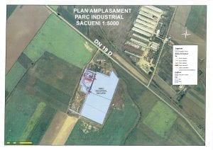 Harta Parcului Industrial Sacueni