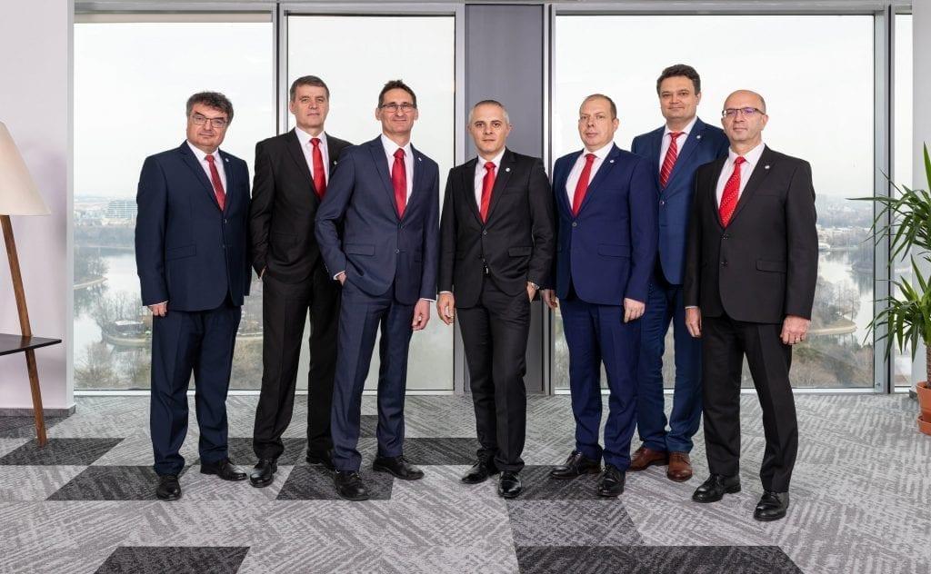 Echipa Chimcomplex - de la stânga la dreapta - Dumitru Coman, Victor Avram, Tivadar Runtag, Armand Spiru, Adrian Dumitriu, Daniel Prisăcariu, Serghei Gheorghe