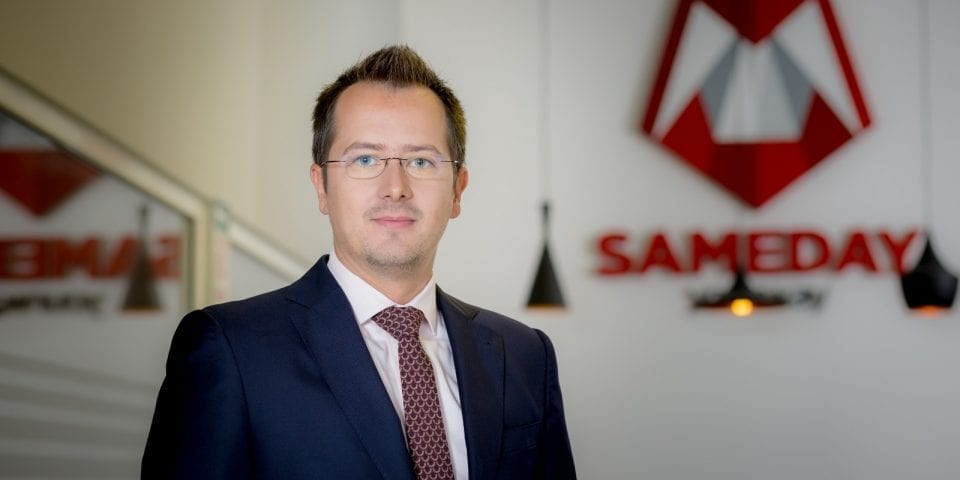 """- Lucian Baltaru CEO Sameday  960x480 - Sameday lansează un nou serviciu de livrare la domiciliu. """"Încercăm să ne adaptăm"""""""