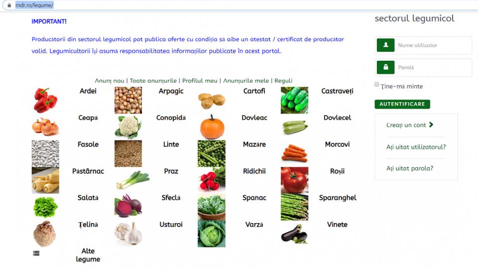 - madr legume 960x540 - Producătorii de legume au la dispoziție de astăzi o platformă online, ce le facilitează accesul către marii relaileri