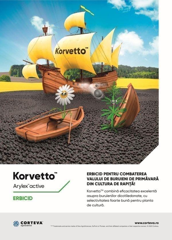 """korvetto - noua soluție tehnologicăpentru controlul buruienilor din cultura de rapiță"""" - Macheta Korvetto A4 mica - KORVETTO – NOUA soluție tehnologicăpentru controlul buruienilor din cultura de rapiță"""""""
