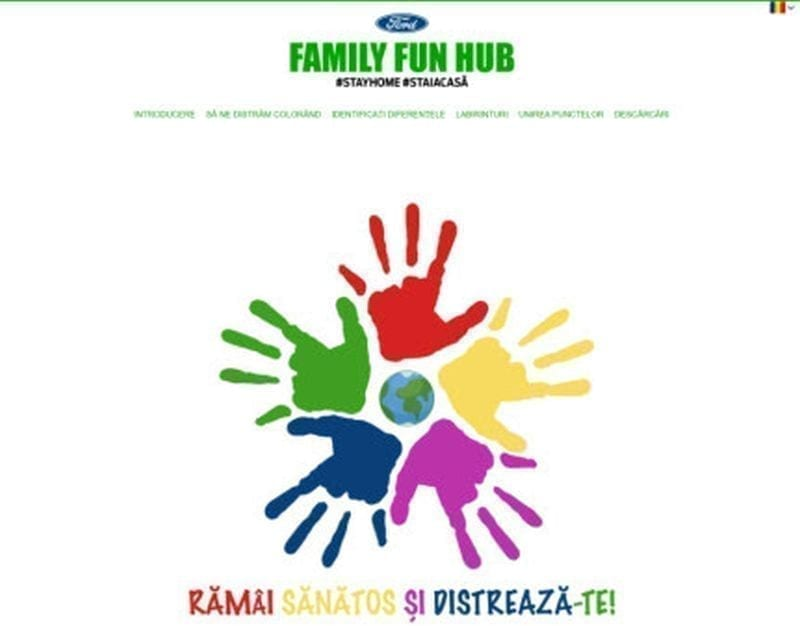 - unnamed 1 - Ford a lansat Family Fun Hub – un site special, cu activități recreative pentru copii