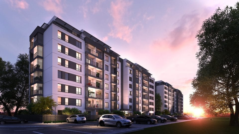 - H Pipera Lake 960x540 - Hagag Development Europe finalizează structura primelor trei imobile din proiectul H Pipera Lake